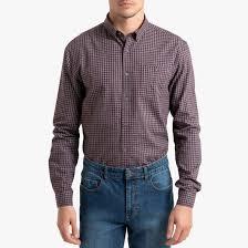 <b>Рубашка</b> прямого покроя в клетку с длинными рукавами <b>La</b> ...