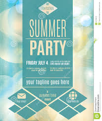 template for party invitation flyer invitation flyer gallery modern style summer party flyer template stock vector image