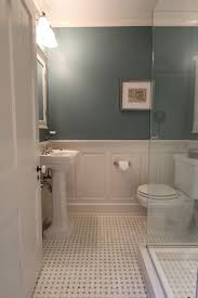 long bathroom wainscoting