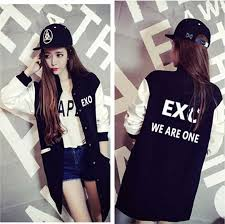 <b>KPOP EXO GOT7 jin</b> suga Long section Baseball Jacket Long ...