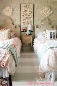 creating a vintage chic little girls wonderland bedroom with soft pastels striped flooring and fun bedroom girls bedroom room