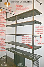 diy pipe shelf construction this might be the perfect solution for a cheap large cheap office shelving