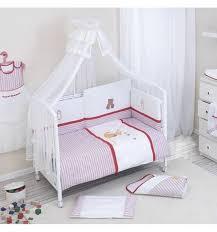 <b>Комплект в кроватку Nino</b> Ganguro 6BB ecru/red: купить за 3619 ...