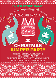 christmas jumper party poster promote your pub christmas jumper party poster a2