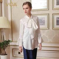 <b>VOA Autumn</b> Long Sleeve Fake Two Piece Set Heavy Silk Dress ...