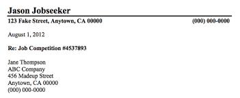 inside address format for a formal business letter cover business letter