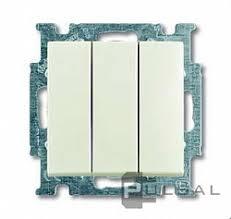 106/3/1 UC-96-507, <b>Выключатель Basic 55</b>, <b>трехклавишный</b>, без ...