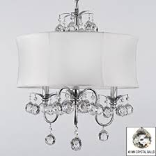 modern contemporary white drum shade crystal ceiling chandelier pendant lighting fixture w 18quot chandelier pendant lighting