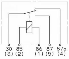 relay spdt 12v 40a 30a 85 ohm coil relay connection diagram
