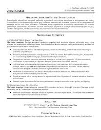 example marketing associate resume   free samplebest executive services