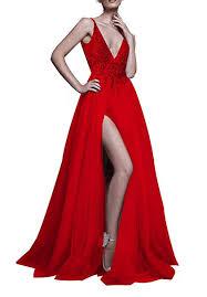 Prom Dresses Sexy Deep V Neck Sequins Beads ... - Amazon.com