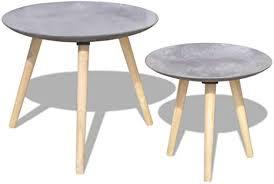 <b>Two Piece Side Table</b>/Coffee Table Set 55 cm&44 cm: Amazon.co ...