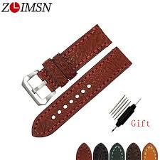 <b>ZLIMSN</b> New Men Genuine <b>Leather Watchband</b> Accessories ...