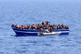 Image result for refugees on a boat