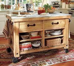 rustic kitchen island: reclaimed wooden kitchen island on wheels