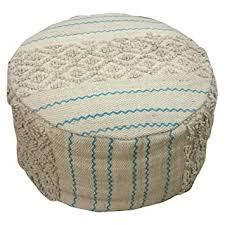 Kanchan Arts Premier Printed Cotton Round <b>Pouf</b> Sitting Mudda for ...