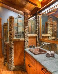 country themed reclaimed wood bathroom storage:  fantastic rustic bathroom designs that will take your breath away
