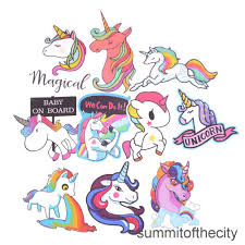 <b>10Pcs Mixed Colorful</b> Cute Unicorn Stickers Laptop Car Phone ...