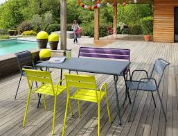 146x80 cm Monceau table, garden <b>metal</b> table | Outdoor furniture ...