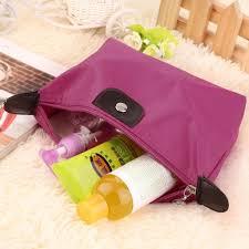 <b>Hot</b> Pink <b>Nylon Cosmetic</b> Pouch | Shopee Singapore