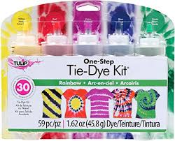 Tulip One-Step 5 Color Tie-Dye Kits Rainbow, 1.62oz - Amazon.com