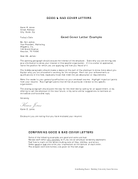 examples of excellent cover letters example of a good cover letter effective cover letter sample