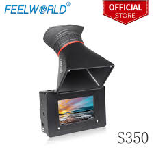 <b>Feelworld S350 3.5</b> Inch EVF 3G SDI HDMI Electronic View Finder ...