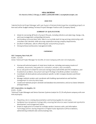 It Project Manager Resume  resume template construction project     happytom co
