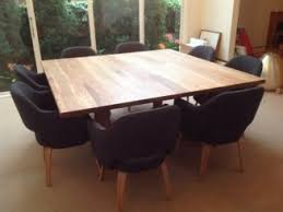 dining room tables chairs square: furniture custom diy square dining room table seats  with black chairs ideas square