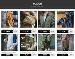 Online Shop <b>MADEN Men's Vintage Regular</b> Straight Leg Fit Indigo ...