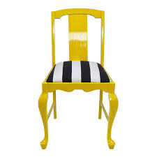 furniture yellow painted wood dining chair with black and white seat as well as armchair black and white striped furniture