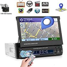 "<b>7</b>"" <b>HD</b> 1 DIN Car GPS Navigation <b>MP5 Player</b> Stereo Bluetooth ..."