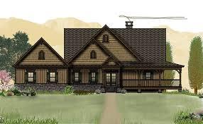 Open Floor Plan   Wrap Around Porch   Banner Elk IImountain house plans   loft