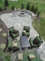 stone patio installation: new york blue irregular flagstone patio design and creation by frank spiker and all natural