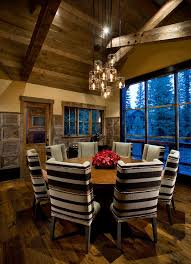 cabin lighting ideas dining room rustic with vaulted ceiling window wall wood ceiling cabin lighting ideas