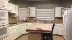 Painted Kitchen Diy Painting Oak Kitchen Cabinets White Youtube