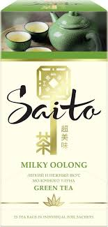 Купить <b>Чай зеленый</b> Milky Oolong <b>SAITO</b>, 1,5х25 пачек в торговых ...