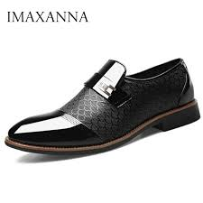IMAXANNA Men Shoes Leather Business Loafers Luxury Brand ...