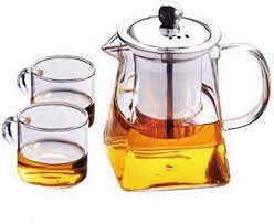 LjzlSxMF Clear <b>High Borosilicate</b> Glass Tea Pot with Removable ...