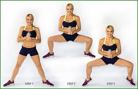 Image result for woman plie squat workout