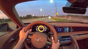 2021 <b>Lexus</b> LC 500 Convertible - POV Night Drive (Binaural Audio ...