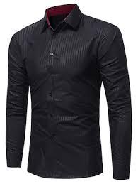 Best tredy cool collar <b>vertical</b> stripes Online Shopping | Gearbest ...
