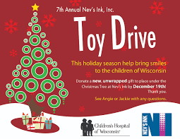 uncategorized nevsinklabels annual toy drive for children s hospital this week nev s employees will be donating gifts such as cars dolls dvds coloring books etc to help bring