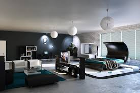 modern bedroom concepts: big modern master bedrooms with luxury black furniture design with awesome interior concept with large room