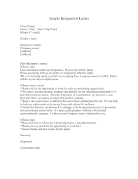 resignation letter samples template resignation letter samples