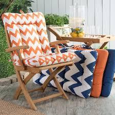 chair patio set orange cushion
