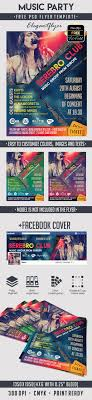 music party psd flyer template by elegantflyer music party psd flyer template