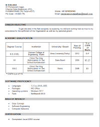Mca Fresher Resume Format Doc  download free download resume     Brefash b com resume samples cv format for freshers students   Template   Resume For Freshers