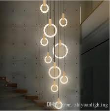 Contemporary <b>LED Chandelier</b> Lights Nordic <b>Led</b> Droplighs <b>Acrylic</b> ...