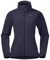 <b>Куртка</b> женская <b>Bergans Hareid Fleece</b> NoHood Dk Navy Mel ...